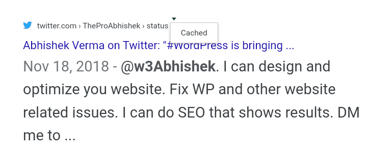 Recover Deleted TWEETS using Google Page Cache