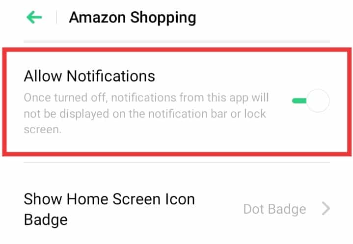 turn off notification Realme Phone