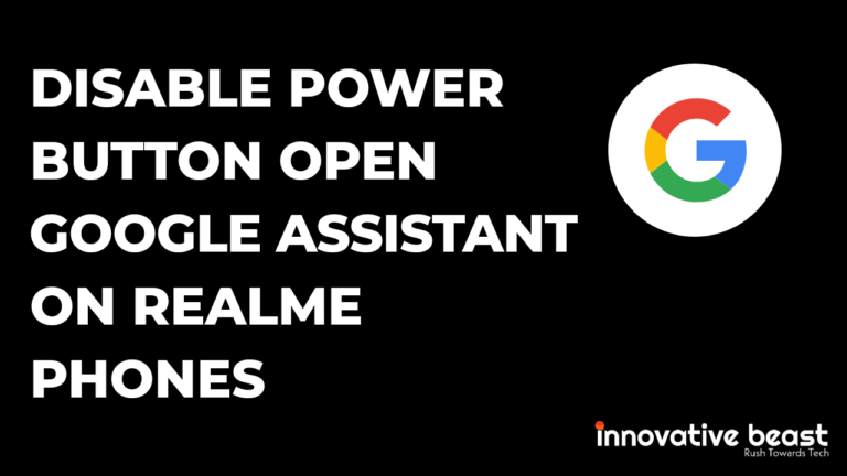 How to Disable Power Button Open Google Assistant on Realme Phones